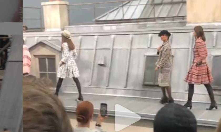 Gigi Hadid saves Chanel show as comedian crashes the runway
