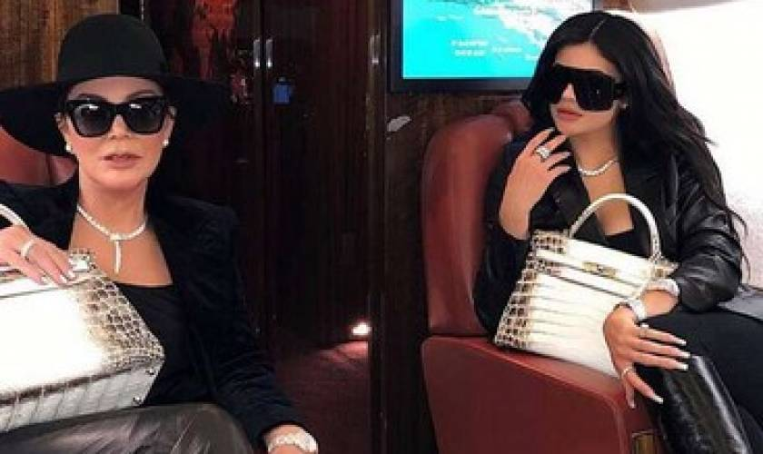 Kylie Jenner and Kris Jenner Are Totally Twinning in Matching First-Class Styles