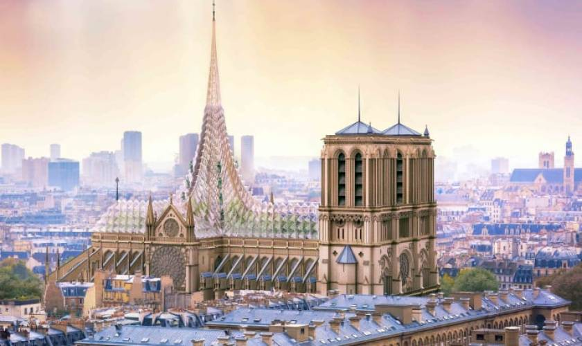 Architect unveils striking proposal for 'green' Notre Dame
