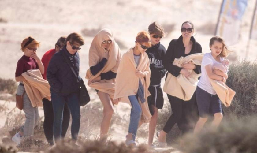 Angelina Jolie Hits The Beach With 4 OfHer Children During Break From Filming'The Eternals'