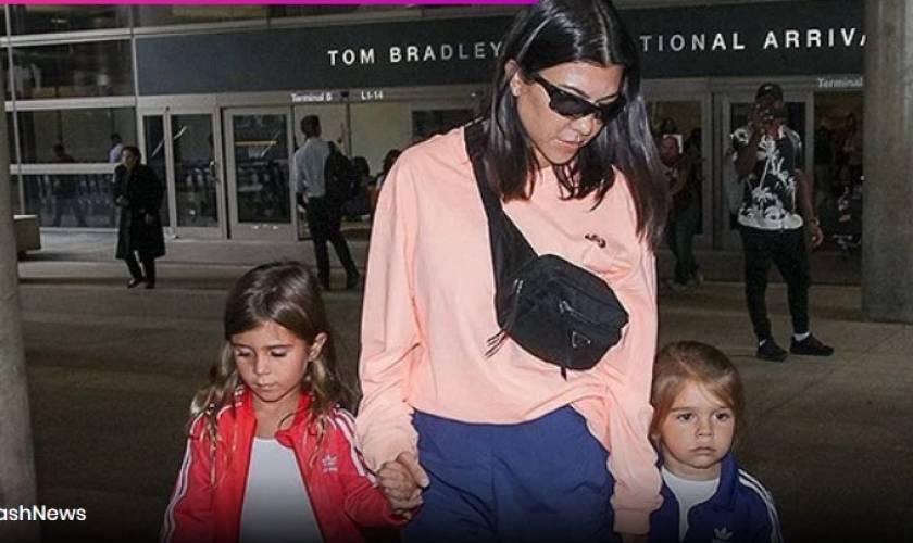 Penelope Disick, 7, Piggybacks BrotherReign, 4, As Kourtney Escapes To Kanye'sWyoming Ranch