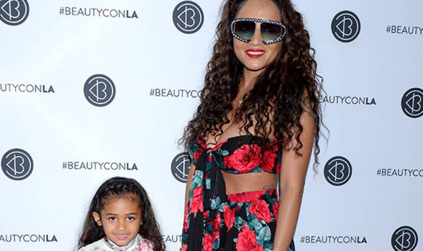 Royalty Brown, 5, Smiles Wide With MomNia Guzman After Chris Brown WelcomesNew Baby Boy