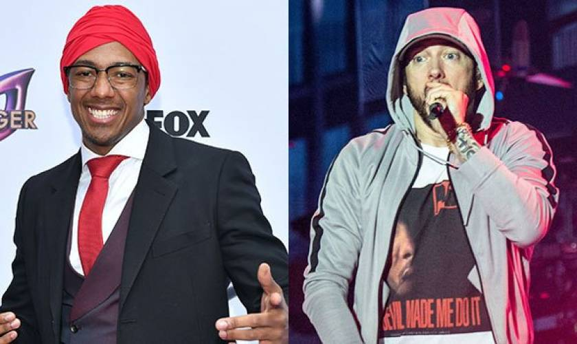 Nick Cannon Taunts Eminem To 'ComeOut & Play' After Rapper Fires Back At HisDiss Track