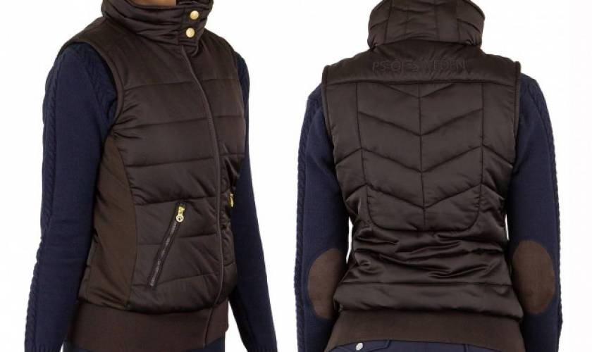 PS of Sweden Riding Vest, Christina, Chocolate