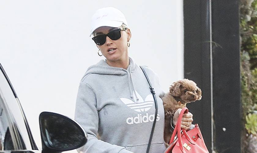 Katy Perry Steps Out For The 1st Time InHoodie & Leggings Just Before ConfirmingPregnancy