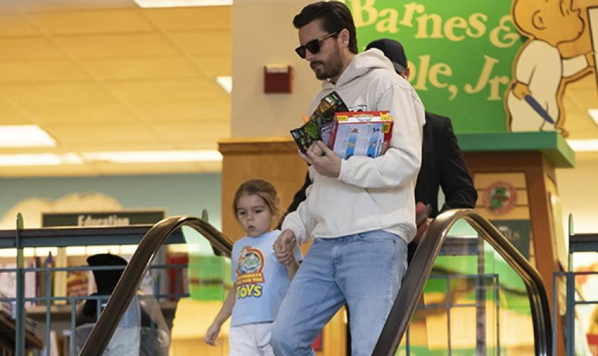 Scott Disick Is A Doting Dad To Son Reign,5, As They Hold Hands On Shopping Trip